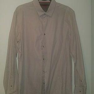 Men's Alfani L button down, gray. (Slim fit)